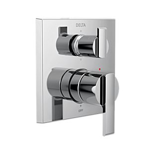 Delta Angular Modern Monitor 14 Series Valve Trim with 6-Setting Integrated Diverter