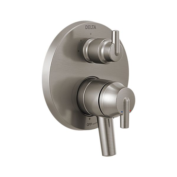 Contemporary Two Handle Monitor 17 Series Valve Trim with 3-Setting Integrated Diverter
