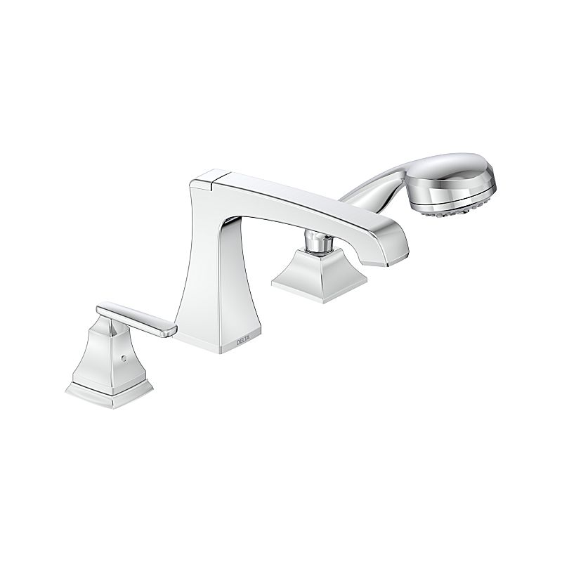Roman Tub Faucet With Hand Shower 3 Hole.T3764 Ashlyn 3 Hole Roman Tub With Hand Shower Bath