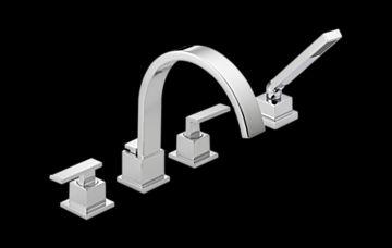 T4753 Vero Roman Tub Trim With Hand Shower Bath Products Delta Faucet