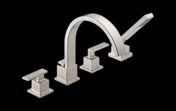 T4753 Ss Vero Roman Tub Trim With Hand Shower Bath Products Delta Faucet