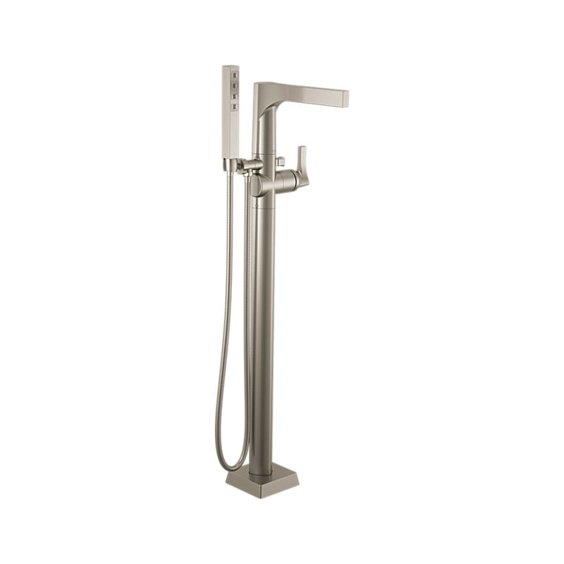 T4774 Ssfl Zura Floor Mount Tub Filler Trim Bath