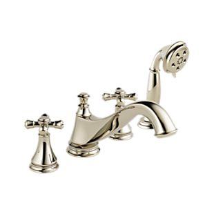 Cassidy Roman Tub Trim with Hand Shower - Low Arc Spout - Less Handles